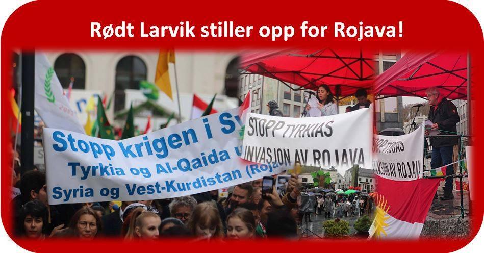 Read more about the article Rødt Larvik stiller opp for Rojava!