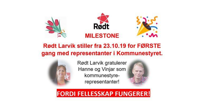 Rødt Larvik med representanter i kommunestyret!